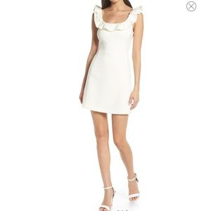 French connection white ruffle dress